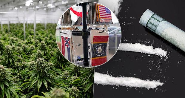 Legální drogy, ilegální potraty a nová vlajka? Američané nerozhodovali jen o prezidentovi