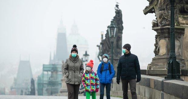 Chladné počasí v Praze.