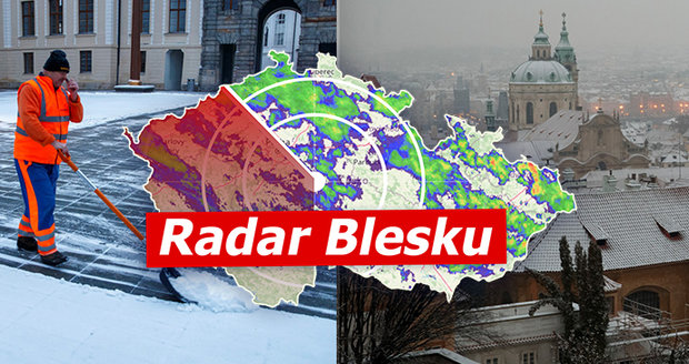 Meteorologové varují před silným větrem, dopravu komplikuje sníh. Sledujte radar