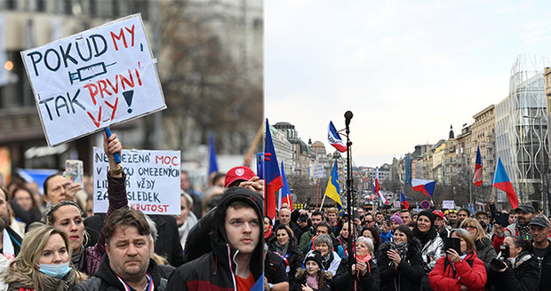 Protest proti vládě: V centru Prahy se sešlo několik stovek lidí | Blesk.cz