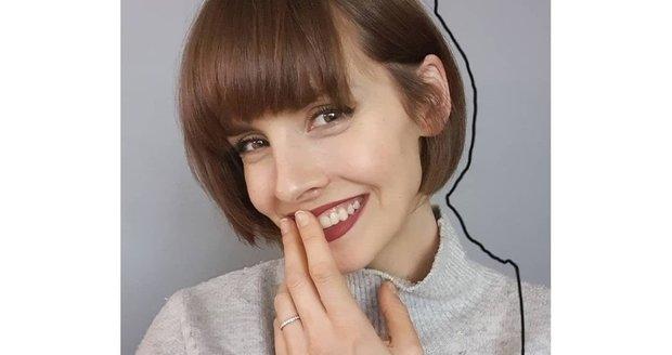 Gabriela Lašková se rozhodla pro radikální změnu účesu.