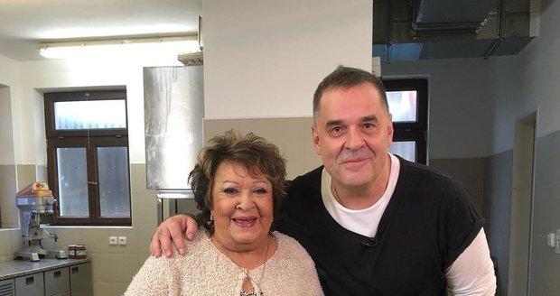 Miroslav Etzler s Jiřinou Bohdalovou
