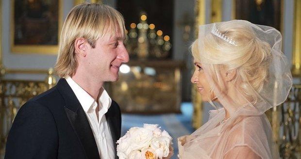 Svatba Jevgenije Pljuščenka a Jany Rudkovské