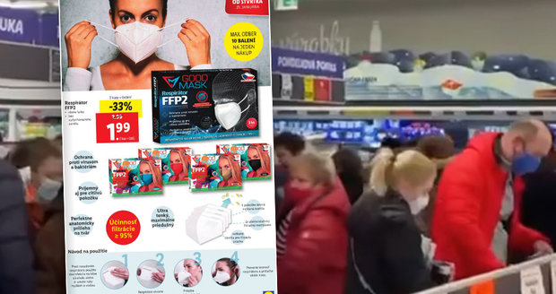 Lidl Madness: Seniors wanted to save and fight for cheap respirators.  Is the Czechia waiting for that?