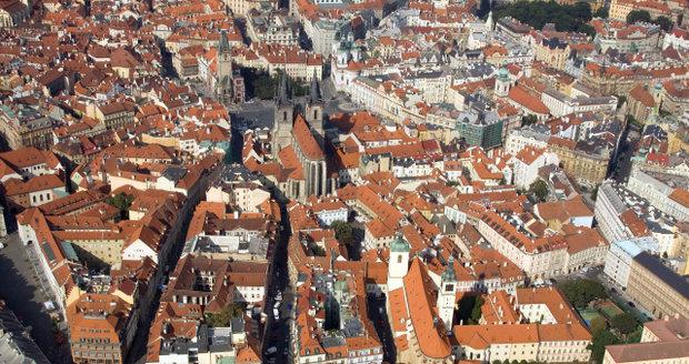 Pohled na Staré Město pražské.