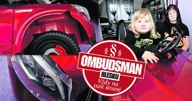 Denisa Bezoušková z Hlučína bojuje s obchodem o peníze za rozbité autíčko.
