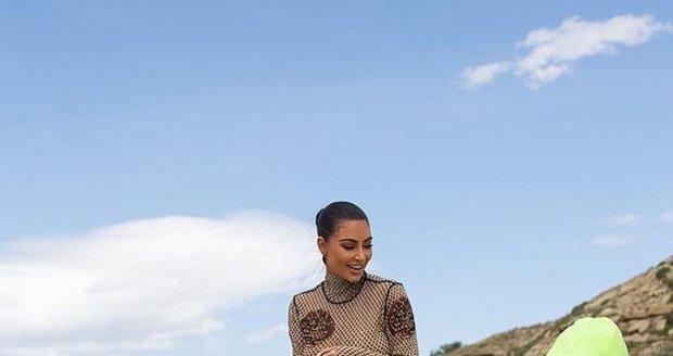Kim na ranči ve Wyomingu.