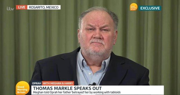 Thomas Markle se vyjádřil k rozhovoru své dcery.