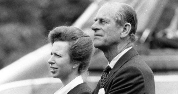 Princezna Anne s princem Philipem