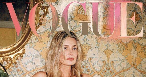 Pavlína Pořízková na obálce československého magazínu Vogue