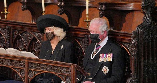 Pohřeb prince Philipa: Camilla a Charles
