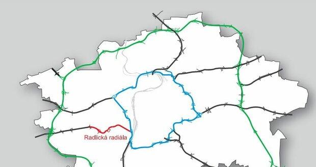 Radlická radiála v dopravním systému Prahy
