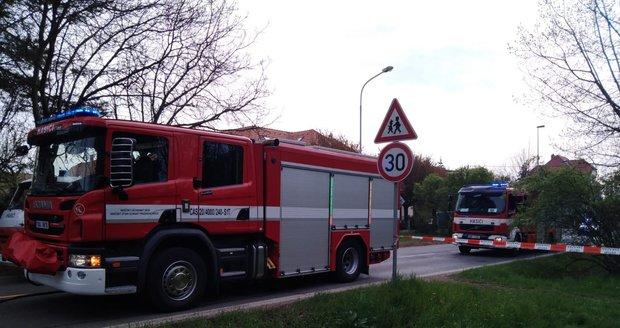 Únik plynu v Kamýcké ulici v Praze, 4. května 2021.