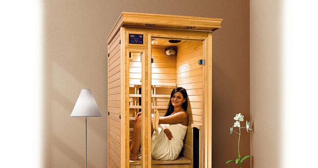 Infrasauna se díky svým rozměrům pohodlně vejde do každé místnosti.