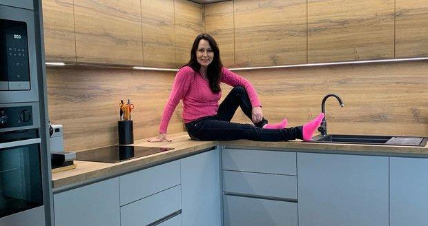 Heidi Janků je z nové kuchyně nadšená
