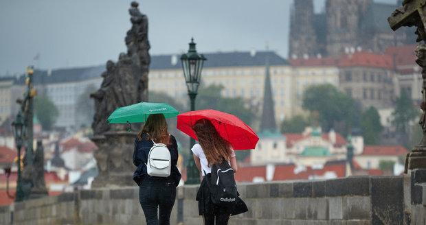 Deštivě počasí v květnové Praze (květen 2021)
