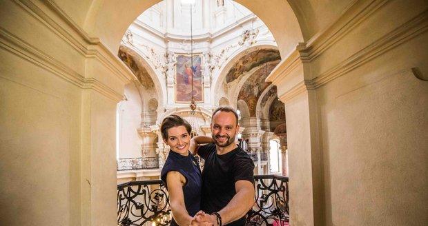 Marek Dědík a farářka Martina Viktorie Kopecká