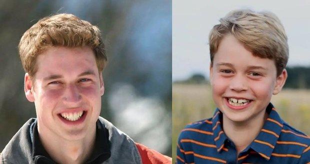 Princ George je čím dál více podobnými svému otci Williamovi.