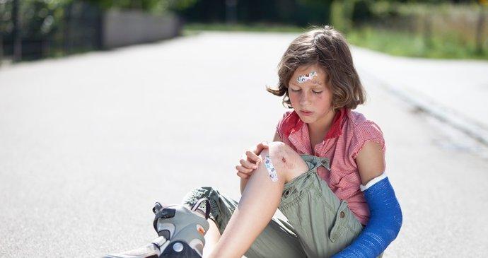 Každé páté dítě musí kvůli úrazu za lékařem. Nejrizikovější je skákání na  trampolíně. 5b537a3866