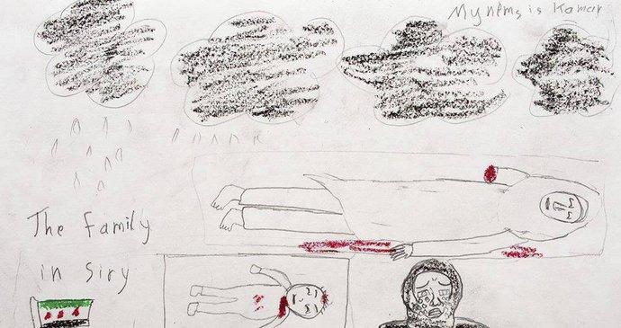 Desive Obrazky Od Syrskych Deti Nakreslily Krev I Usmivajici Se