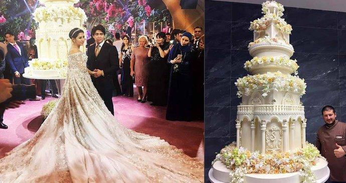 Svatba dcery ruského oligarchy  Šaty za 15 mega 6887701ac5