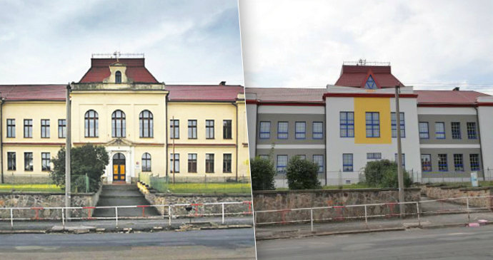 9866dca8ff4 Zprasená« rekonstrukce stoleté školy  Změna vzhledu bez povolení ...