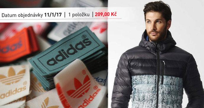E-shop Adidasu prodával několik hodin v korunách místo v eurech. Bunda byla  za 5875396c00