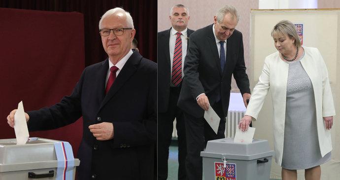5f36c920e32 Prezidentští kandidáti Jiří Drahoš a Miloš Zeman už mají ve 2. kole  odvoleno.
