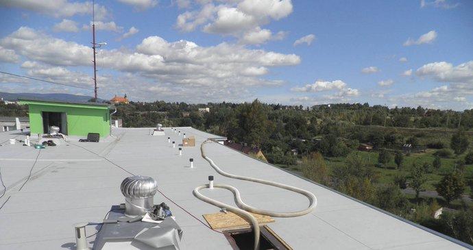 Ukázka izolace ploché střechy