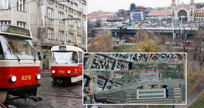 Velké změny na hlaváku. Místo parkoviště nový park, místo bezdomovců tramvaje, a co přechod přes magistrálu?
