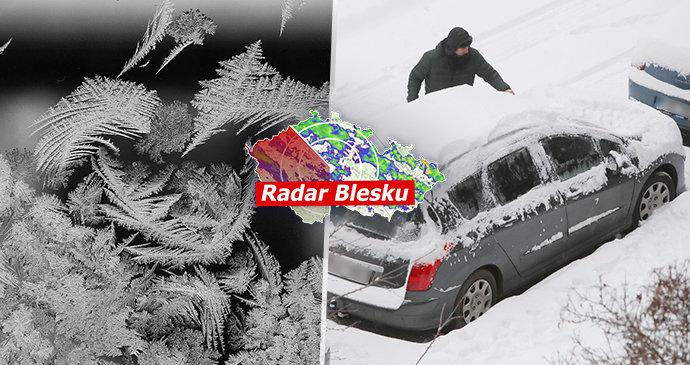 Česko sevřely mrazy, na Šumavě klesly teploty k -22 °C. Silnice kloužou, sledujte radar Blesku