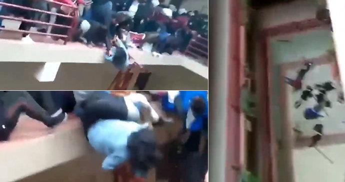 Tragická smrt studentů: Na univerzitě se s nimi prolomilo zábradlí!