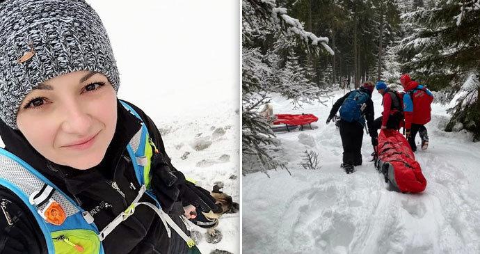 """Martině zkolabovala kamarádka na túře v hlubokém sněhu: Byl to """"zážitek lvl 10000"""", popsala"""