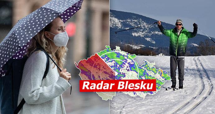 Velká březnová předpověď pro Česko: Mrazivé noci, hodně deště i sníh, sledujte radar Blesku