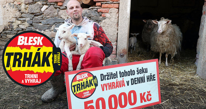Zemědělec Radek Lipták (34) z Nýřan zabodoval v Denní hře: Trhák zkusil poprvé a má 50 000 Kč!