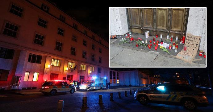 Muž (†50) se zastřelil před ministerstvem: Kvůli smrti manželky? Je to hoax, ohradili se policisté