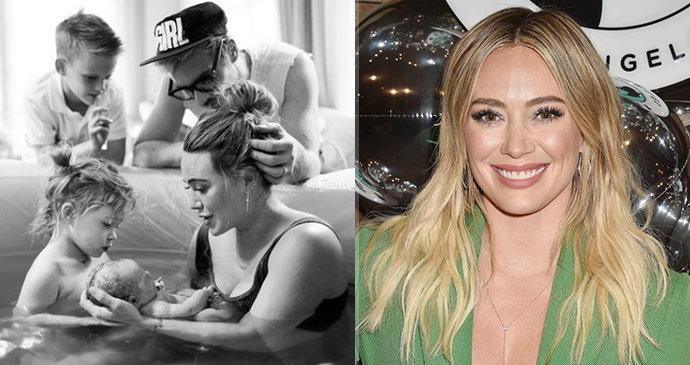 Moderní Popelka Hilary Duffová je trojnásobnou matkou! Intimní foto z domácího z porodu