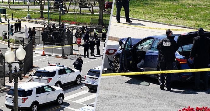 Další útok na Kapitol? Auto najelo do barikád, zranilo dva policisty. Řidič zemřel