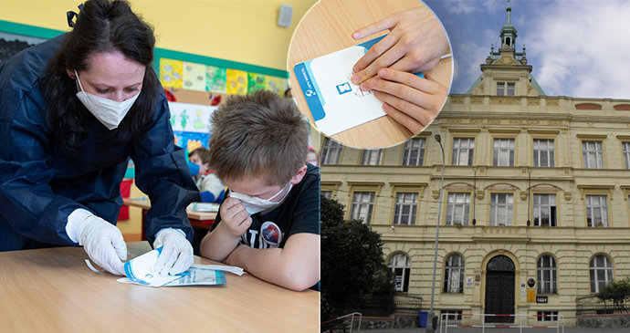Zpátky do lavic! Děti na ZŠ Kladská si vyzkoušeli antigenní testy i PCR testy ze slin