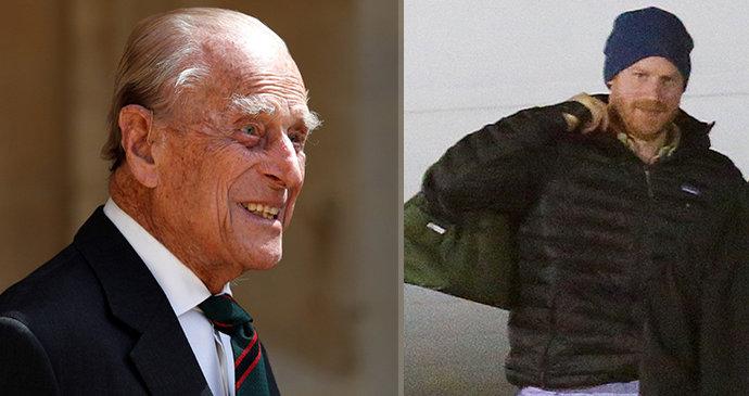 Harryho manévry kvůli pohřbu dědečka Philipa (†99): Černý cadillac a rychlý úprk od Meghan!