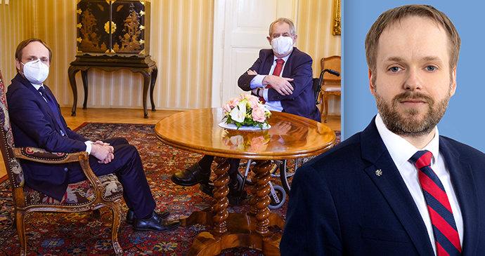 """""""Slušný kluk"""" se představil Zemanovi. Kulhánka by mohl jmenovat příští týden"""