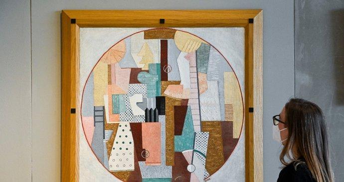 Autorský rekord při aukci v Mánesu. Obraz Cirkus malířky Toyen se prodal za 79,56 milionu korun