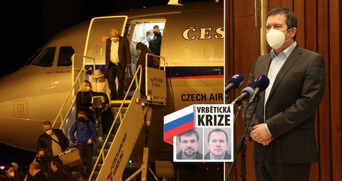 """Vrbětice ONLINE: Hamáček si předvolal ruského velvyslance. Babiš se omlouval za """"útok na zboží"""""""
