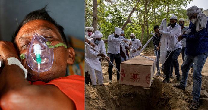 Nemocnici došel kyslík, 22 pacientů s covidem zemřelo. Indie řeší i smutný rekord
