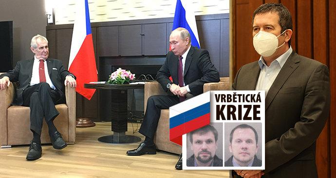 Pletky s Rusy: Hamáček chtěl měnit Vrbětice za vakcíny Sputniku? Zemanovi Putin neodpověděl