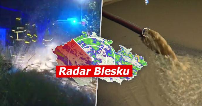 Povodňová hrozba v Česku neustává. Meteorologové rozšířili výstrahu, sledujte radar Blesku