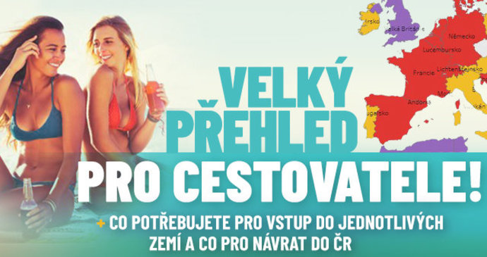 Přehledně pro dovolenkáře: Kde se znovu mění podmínky pro cestování a jak se vracet do ČR?