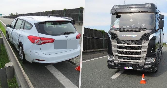 """""""Myslela jsem, že mám přednost."""" Řidička vjela na dálnici D11 kamiónu přímo pod kola kamiónu"""