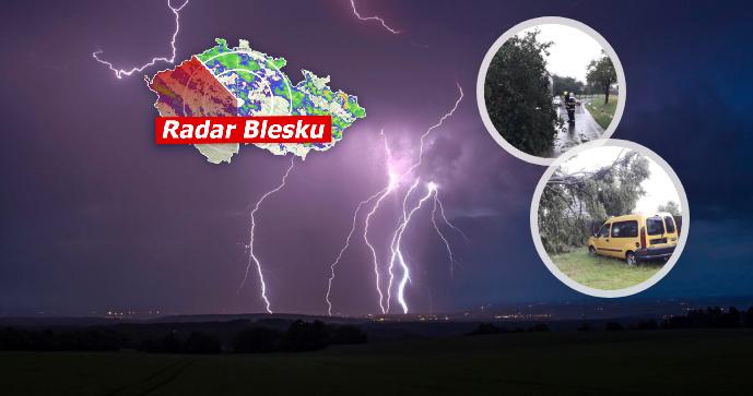Bouřky a kroupy řádily na západě Čech a postupují! Hrozí lijáky, sledujte radar Blesku