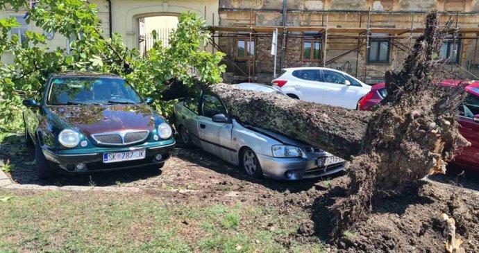 Silné bouřky zasáhly v Chorvatsku i turisty v kempech. Vichr jak při hurikánu a polámané stromy